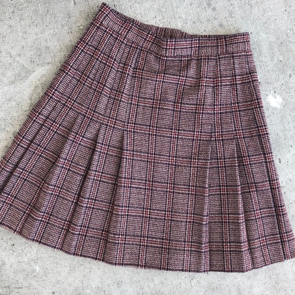 eb109cdbf5c2 Vintage the Villager tweed plaid pleated skirt W27.  M_5c69a46a409c15e4bf232d6a
